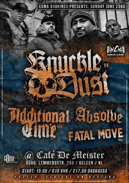 Knuckledust, Additional Time, Absolve, Fatal Move